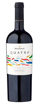 4-fach prämiert: Montgras Quatro – Colchagua Valley 2017 nur 4,95 € statt 9,80 €