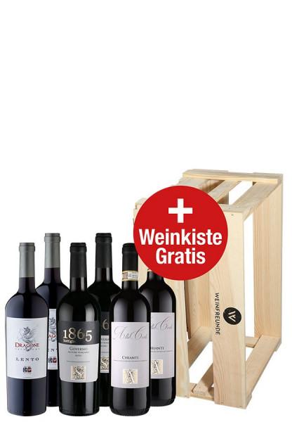 Weinpaket: 6 x 96-98 Punkte ab 7,08 € pro Flasche
