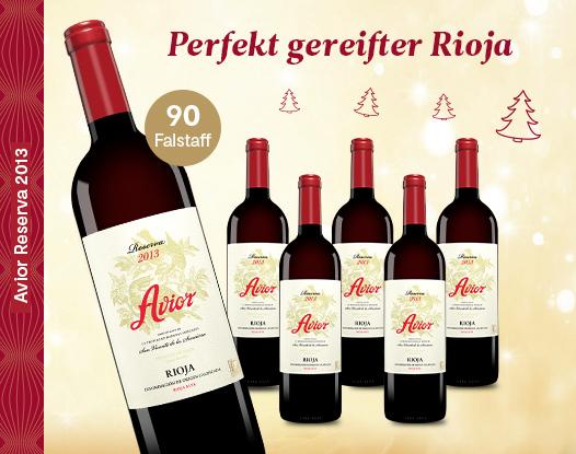 Gold + 90 falstaff-Punkte: Avior Reserva 2013 nur 9,95 € statt 14,95 € (Tagesdeal)