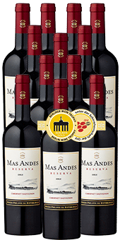 Gold-prämiert: Mas Andes Reserva Cabernet Sauvignon 2017 nur 4,15 € statt 7,95 €